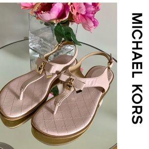 Michael Kors Sandals Alice 9.5 Leather Sandal Bow